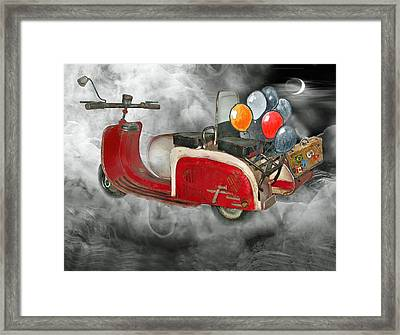 Peter Pan-never Land Framed Print by Manfred Lutzius