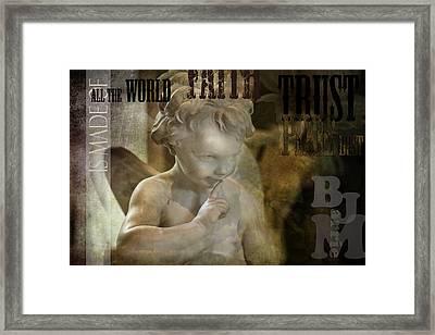 Peter Pan Pixie Dust Framed Print