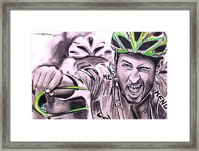 Peter Sagan Framed Print by Eric Dee