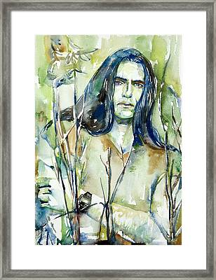 Peter Steele Portrait.1 Framed Print