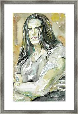 Peter Steele Portrait.2 Framed Print