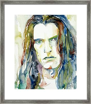 Peter Steele Portrait.4 Framed Print