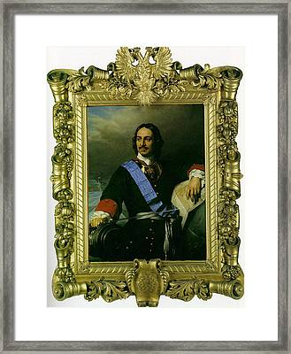 Peter The Great Of Russia Framed Print by Paul  Delaroche
