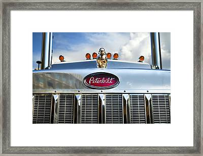 Peterbilt Framed Print by Theresa Tahara