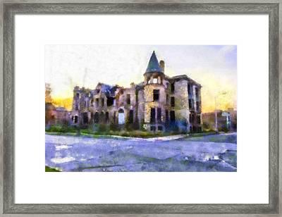 Peterboro Castle Ruins Framed Print by Priya Ghose