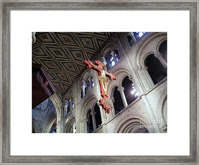 Framed Print featuring the photograph Peterborough Cathedral England by Jolanta Anna Karolska