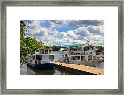 Peterborough Liftlock Cruise Framed Print by Charline Xia