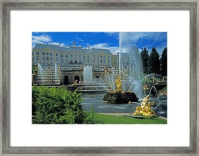 Peterhof Palace Framed Print by Dennis Cox WorldViews