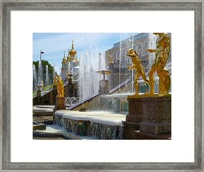 Peterhof Palace Fountains Framed Print