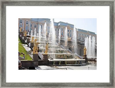Peterhof Palace Fountains Framed Print