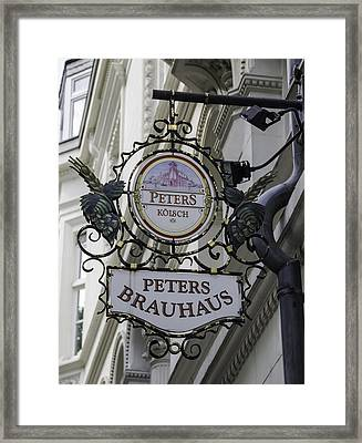 Peters Brauhaus Cologne Germany Framed Print