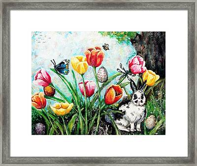 Peters Easter Garden Framed Print by Shana Rowe Jackson