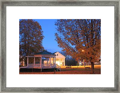 Petersham Common And Country Store Autumn Evening Framed Print