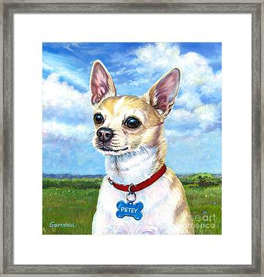 Petey Framed Print