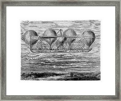 Petin's Planned Aerostat Framed Print by Science Photo Library