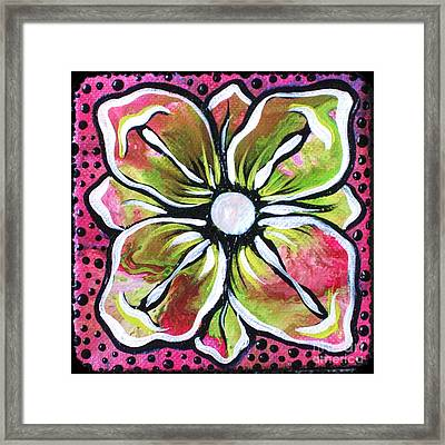 Petit Flower Framed Print by Shadia Derbyshire
