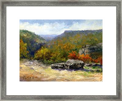 Petit Jean View From Mather Lodge Framed Print by Virginia Potter