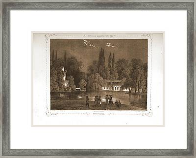 Petit Trianon, Paris And Surroundings, Daguerreotype Framed Print by Litz Collection