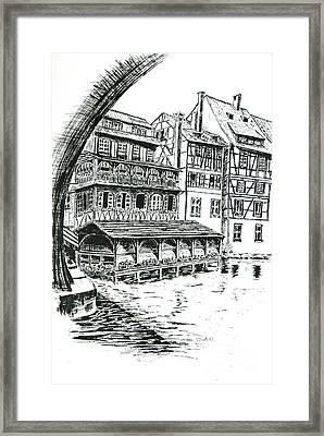Petite France Framed Print by Janice Best