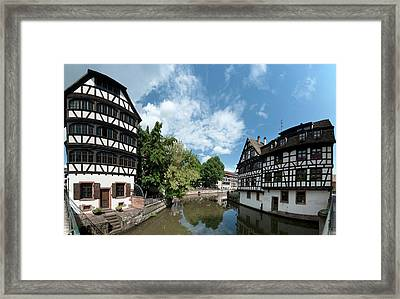 Petite France View From The Bridge Framed Print