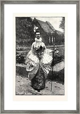 Petite Marquise Au Xviie Framed Print by English School