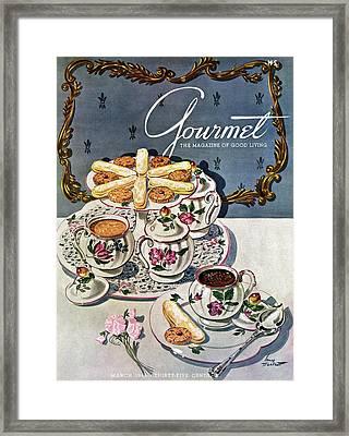 Petits Pots De Creme Framed Print by Henry Stahlhut