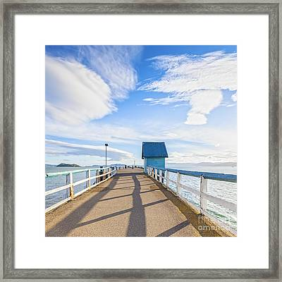 Petone Pier Wellington New Zealand Framed Print by Colin and Linda McKie