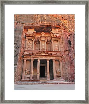 Petra Treasury Framed Print by Tony Beck