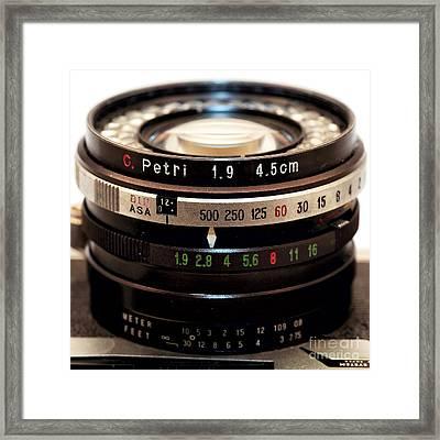 Petri 1.9 Lens Framed Print by John Rizzuto
