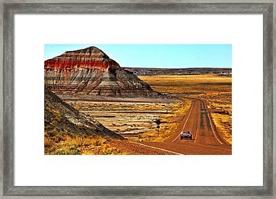 Petrified Forrest Highway-1964 Shelby 289 Cobra Framed Print