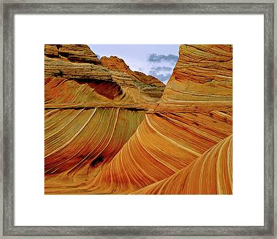 Petrified Sand Dunes The Wave Framed Print by Ed  Riche