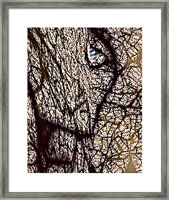 Petrified Super Ego  Spirit Of Tyranny And Tyrants  V3 Fina Framed Print by Rebecca Phillips