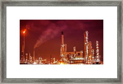 Petrochemical Oil Refinery Plant  Framed Print