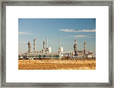 Petrochemical Plant Framed Print by Ashley Cooper