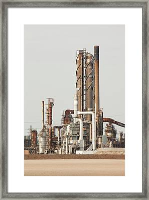 Petrochemical Works Framed Print by Ashley Cooper