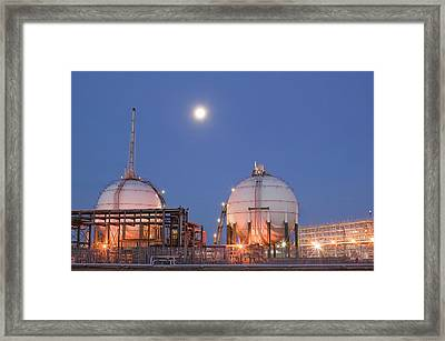 Petrochemical Works On Teesside Framed Print by Ashley Cooper