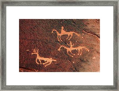 Petroglyph, Canyon De Chelly National Framed Print by Michel Hersen