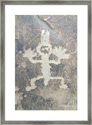 Petroglyph Framed Print by Chris Selby