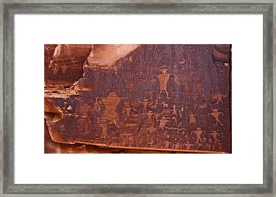 Petroglyph In Utah Framed Print