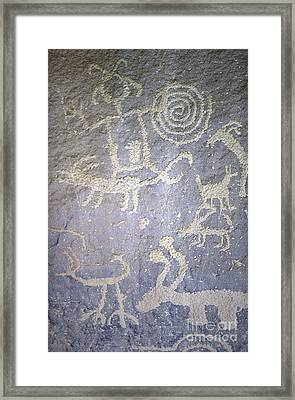 Petroglyph Panel Framed Print by Chris Selby