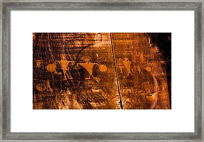 Petroglyphs Framed Print by Helix Games Photography