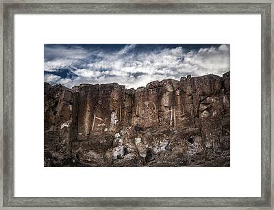 Petroglyphs Framed Print by Cat Connor