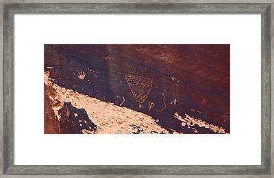 Petroglyphs In Utah Framed Print