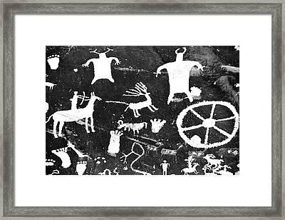 Petroglyphs Of Newspaper Rock State Framed Print