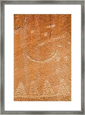 Petroglyphs On Sandstone Framed Print
