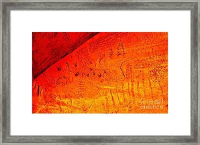 Petroglyphs Framed Print by Robert Bales