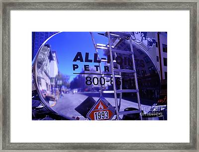 Framed Print featuring the photograph Petroleum Truck by Sherry Davis