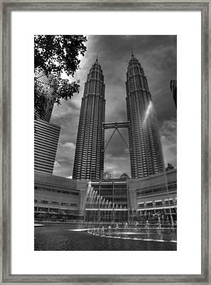 Petronas Tower Framed Print by Mario Legaspi