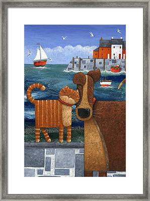 Pets By The Sea Framed Print
