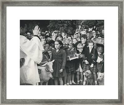 Pets Service At Worcester Park Framed Print by Retro Images Archive